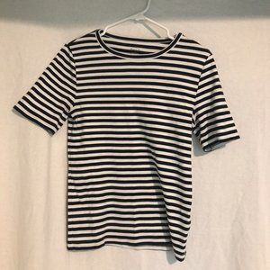 STRIPED J CREW TOP | Size Large